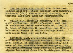 1950 Article on RAS Joining Astro League