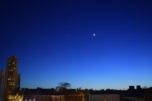 Crescent Moon and Venus, by Stuart Squier