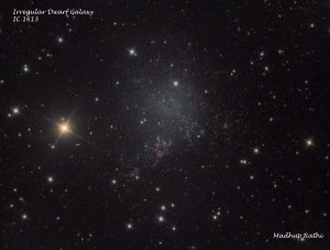 Irregular Dwarf Galaxy IC1613, by Madhup Rathi.